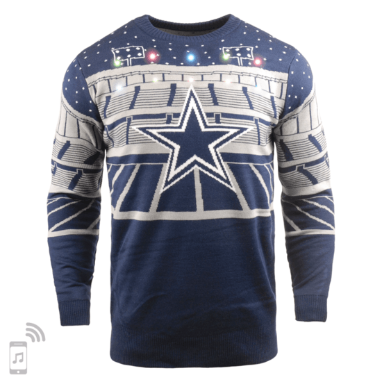 Forever Collectibles Dallas Cowboys Ugly Sweater Bluetooth blau/grau