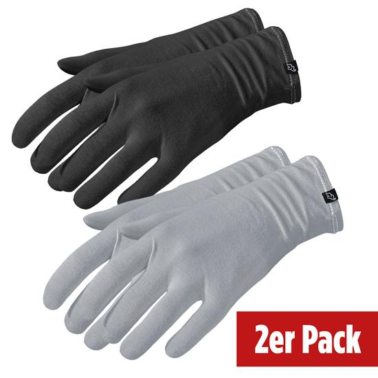ElephantSkin Handschuhe Antiviral & Antibakteriell 2er Pack schwarz/grau
