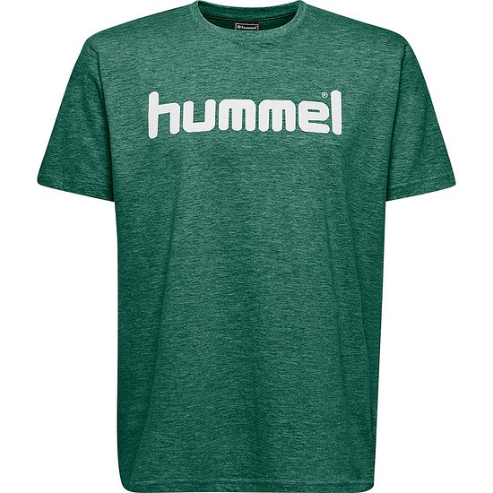 hummel T-Shirt Cotton Logo grün