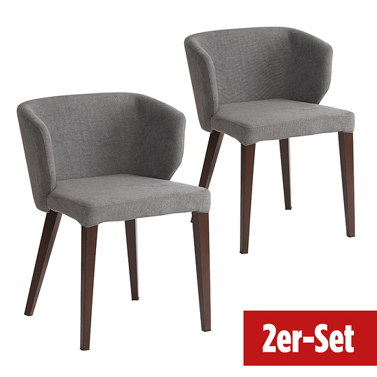 BREAZZ Stuhl Fabric 2er Set grau