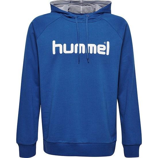 hummel Hoodie Cotton Logo blau
