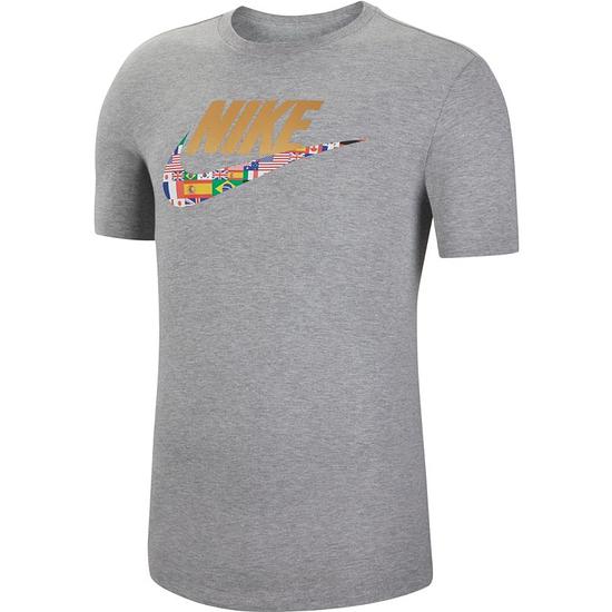 Nike T-Shirt Flaggen Grau