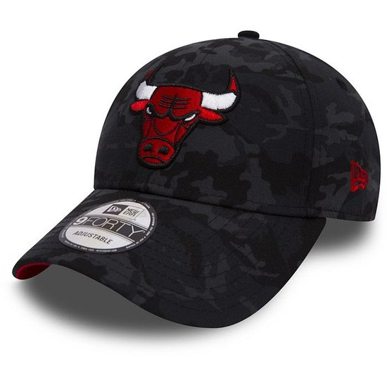New Era Chicago Bulls Cap 9FORTY Camo schwarz/grau