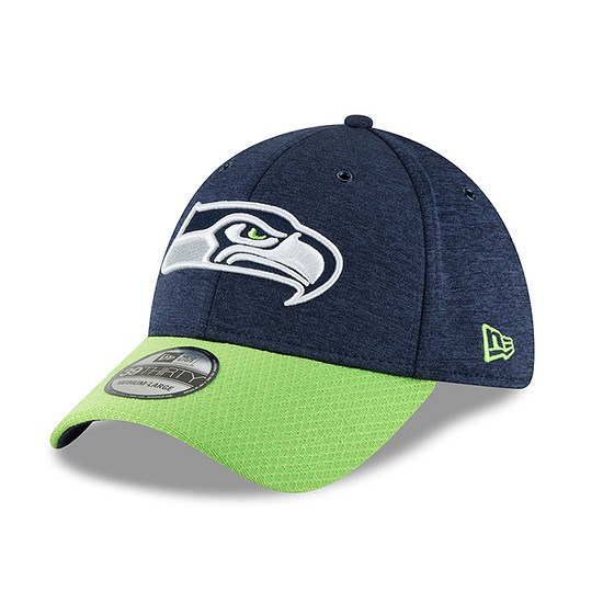 New Era Seattle Seahawks Cap 39THIRTY Sideline Home blau/grün