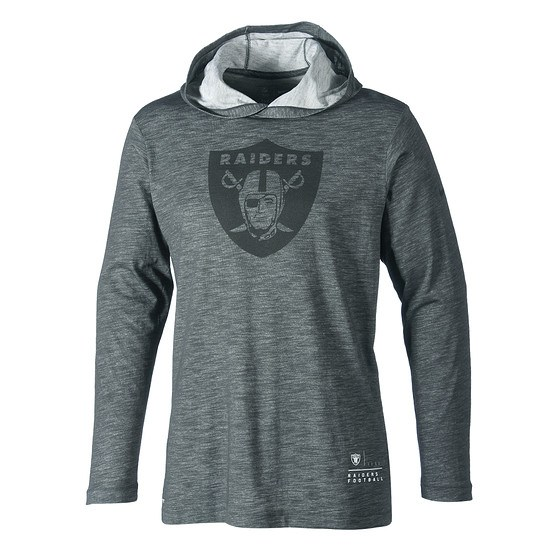 Nike Oakland Raiders Hoodie SLUB 2018/2019 Dunkelgrau