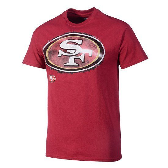 Majestic Athletic San Francisco 49ers NFL T-Shirt Line to Gain rot
