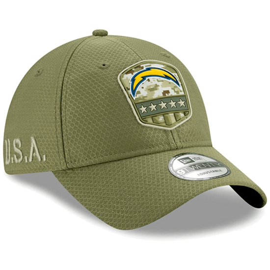 New Era Los Angeles Chargers Cap Salute To Service 9TWENTY oliv