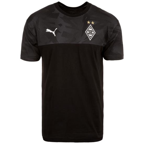 Puma Borussia Mönchengladbach T-Shirt Casuals schwarz/grau