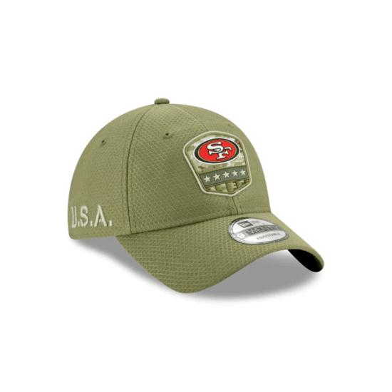 New Era San Francisco 49ers Cap Salute To Service 2019 9TWENTY oliv