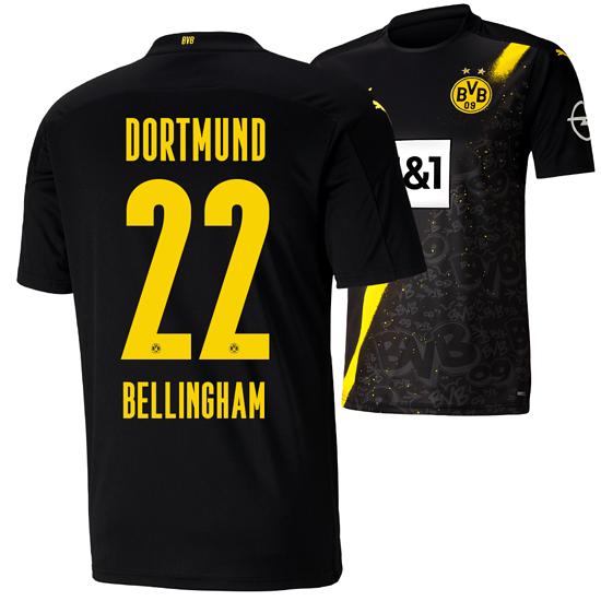 Puma Borussia Dortmund Auswärts Trikot BELLINGHAM 20/21 Kinder