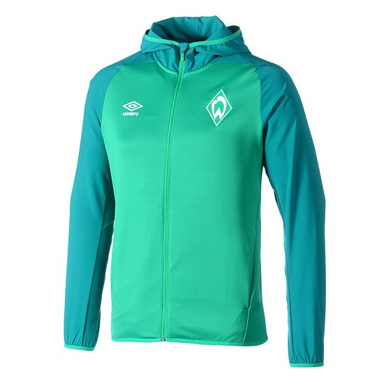 Umbro SV Werder Bremen Kapuzenjacke Tükis/Grün