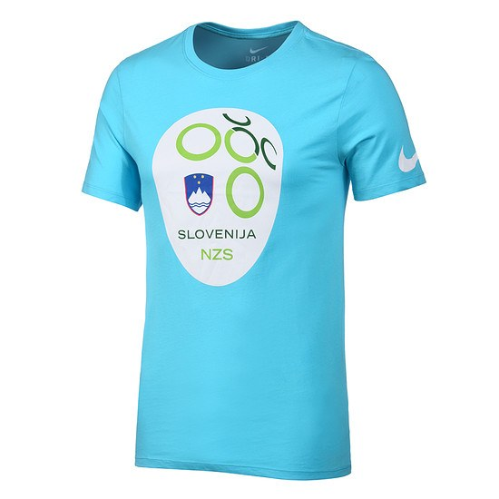 Nike Slowenien T-Shirt Crest blau