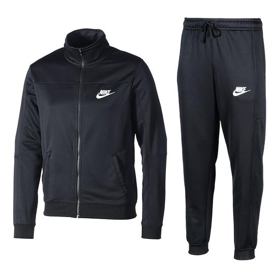 Nike Trainingsanzug Sportswear schwarz/schwarz/weiß