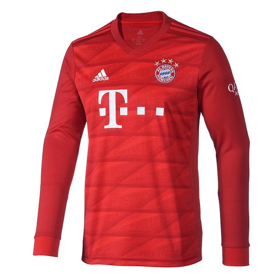 Adidas FC Bayern München Trikot 2019/2020 Heim Langarm Kinder