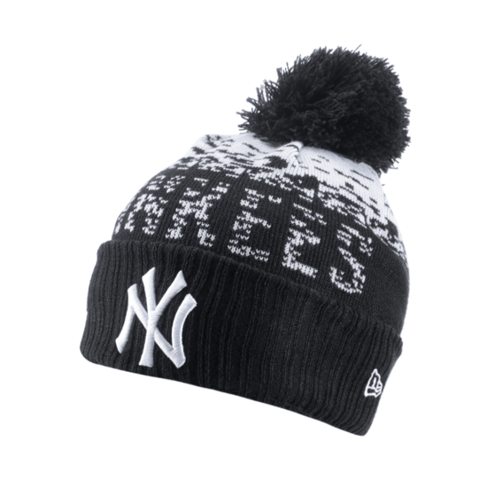 New Era New York Yankees Beanie Sport Knit schwarz/weiß