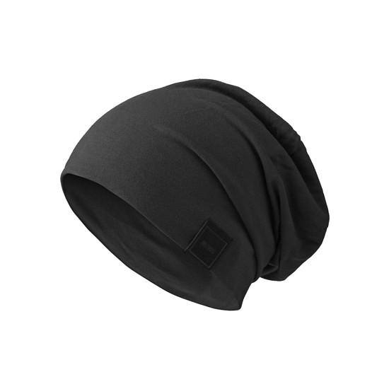 MasterDis Jersey Beanie Patch schwarz