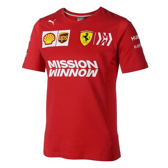 Ferrari T-Shirt Team 2019 rot