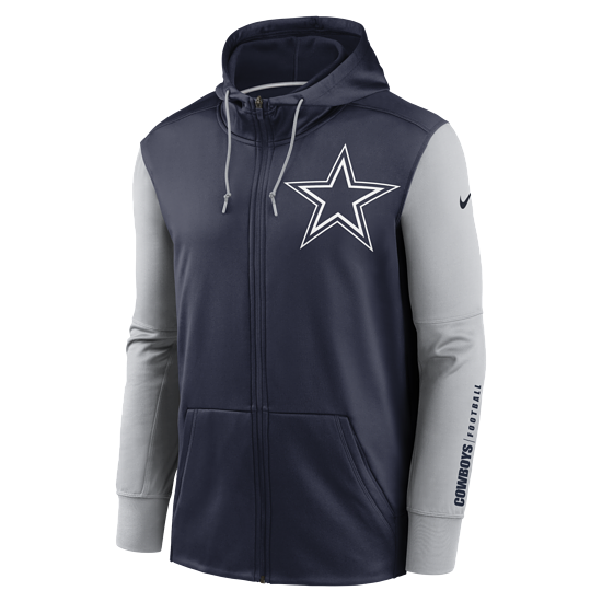 Nike Dallas Cowboys Kapuzenjacke Therma Left Chest Mascot navy/silber