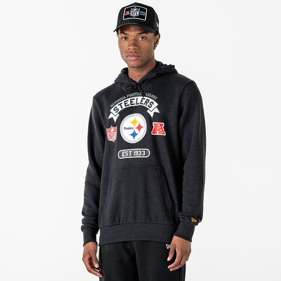 New Era Pittsburgh Steelers Hoodie Graphic grau