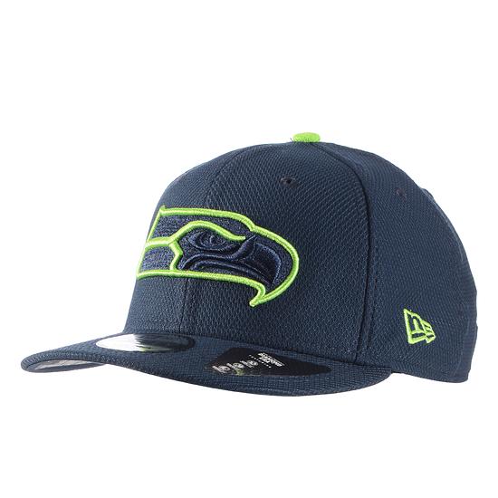 New Era Seattle Seahawks Cap Team Outline 9FIFTY blau