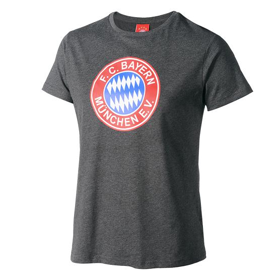 FC Bayern München T-Shirt Retro mit Logo Grau
