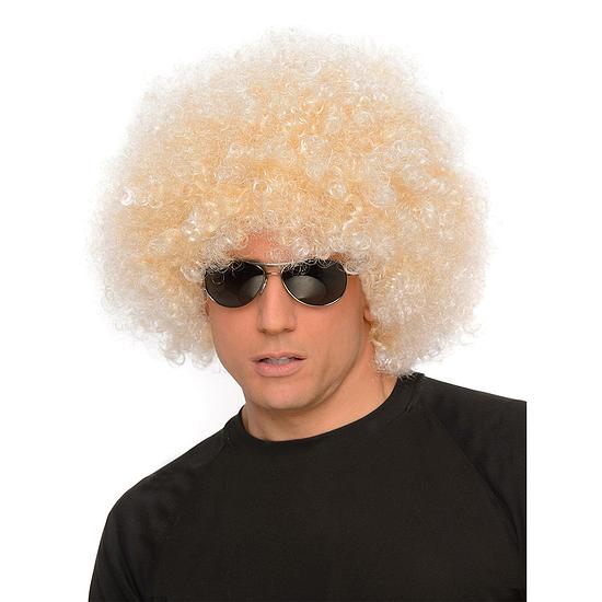 Karnevals- Perücke Afro blond