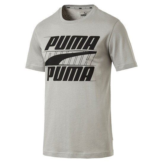 Puma T-Shirt Rebel Basic Grau