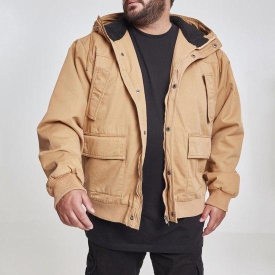 URBAN CLASSICS Winterjacke Hooded Cotton camel