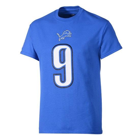 Majestic Athletic Detroit Lions T-Shirt Stafford Nr 9 blau
