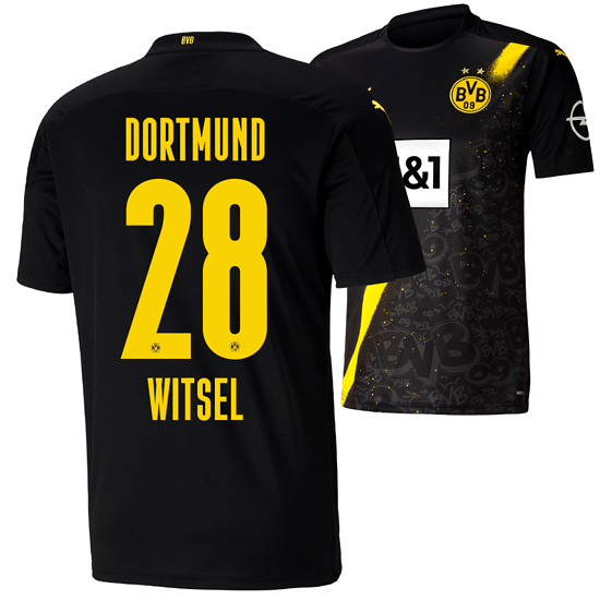 Puma Borussia Dortmund Auswärts Trikot WITSEL 2020/2021 Kinder