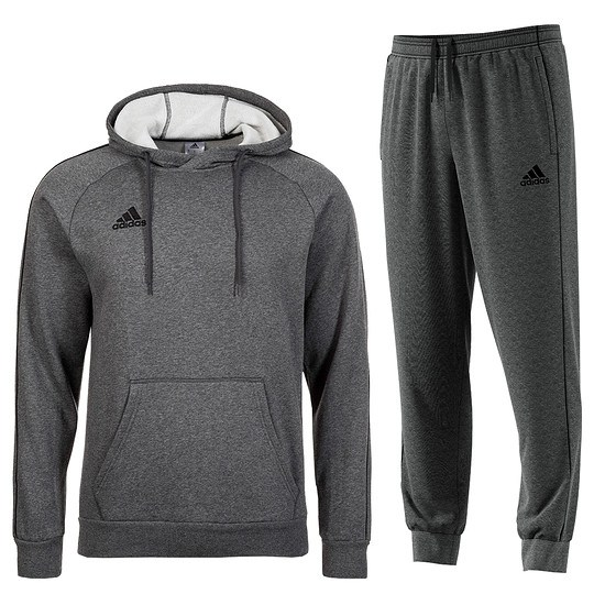 Adidas Freizeitanzug Core 18 Grau