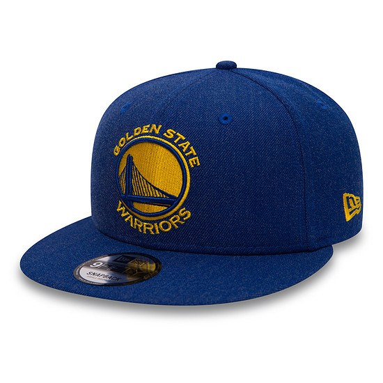 New Era Golden State Warriors Cap Team Heather 9FIFTY blau