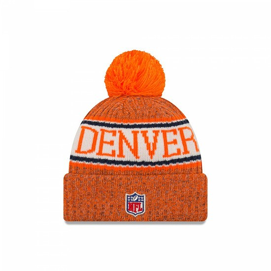 New Era Denver Broncos Bommelmütze Sport orange