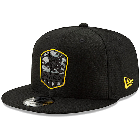 New Era Minnesota Vikings Cap Salute To Service 9FIFTY schwarz