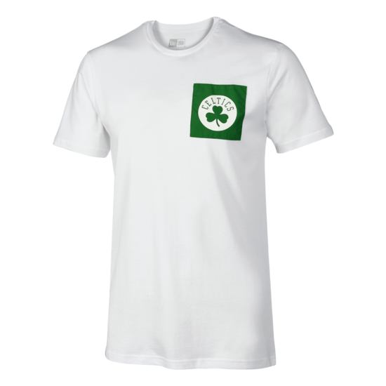 New Era Boston Celtics T-Shirt Square Logo weiß