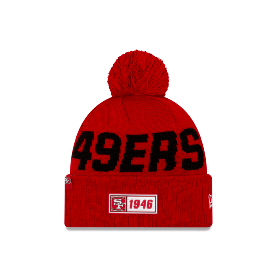 New Era San Francisco 49ers Beanie On Field Sport Knit RD rot