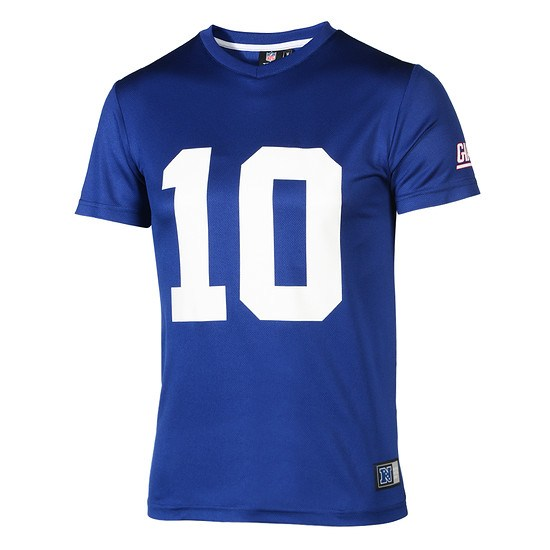 Majestic Athletic New York Giants PolyMesh T-Shirt Manning Nr 10 blau
