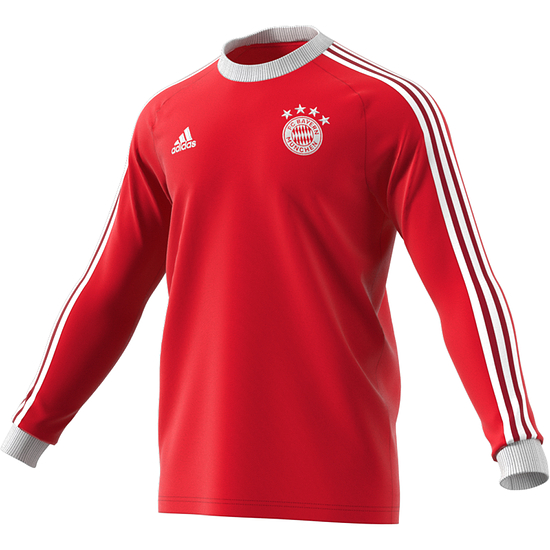Adidas FC Bayern München Langarmshirt Retro Kaiser 5 Rot