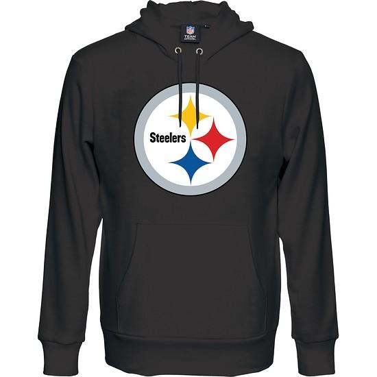 big sale 8b1f7 6e7fd Majestic Athletic Pittsburgh Steelers Hoodie Logo Big