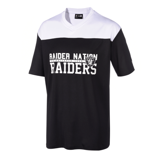 New Era Las Vegas Raiders Jersey Stacked Wordmark schwarz/weiß