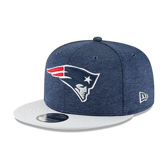 New Era New England Patriots Cap 9FIFTY Sideline 2018 blau