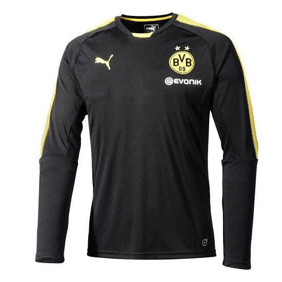 Puma Borussia Dortmund Trainingsshirt Team Langarm Schwarz