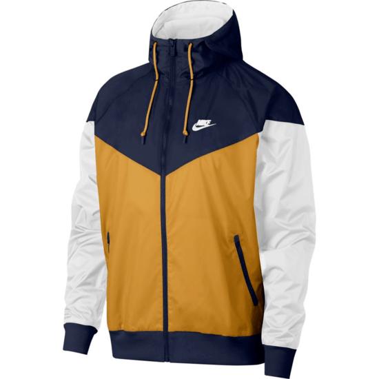 Nike Kapuzenjacke Windrunner Gold/Blau/Weiß