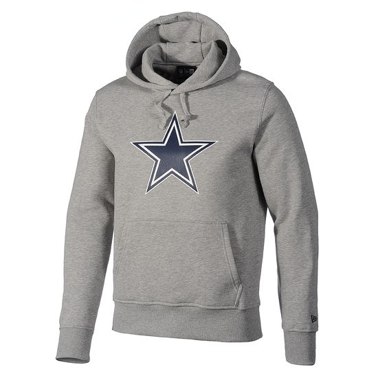 New Era Hoodie Dallas Cowboys Logo hellgrau