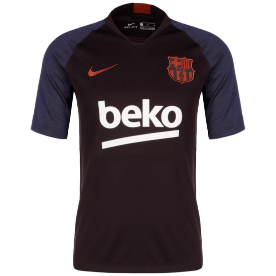 Nike FC Barcelona Trainingsshirt Breathe Strike weinrot/weiß