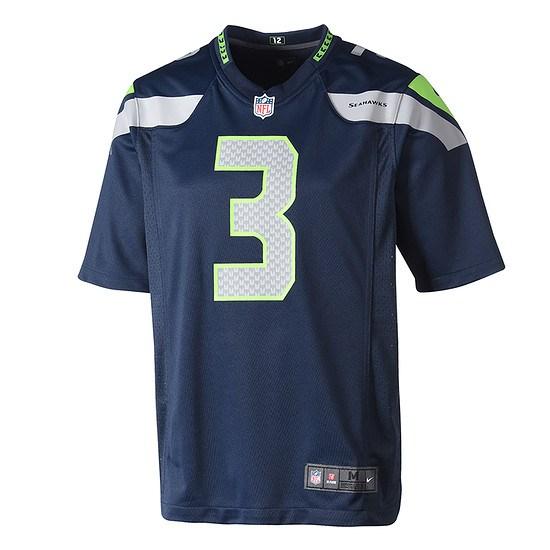 Nike Seattle Seahawks RUSSELL WILSON 3 Trikot Heim 2019/2020 Blau