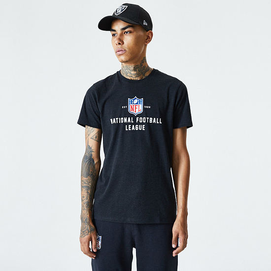 New Era NFL Shield T-Shirt Established schwarz