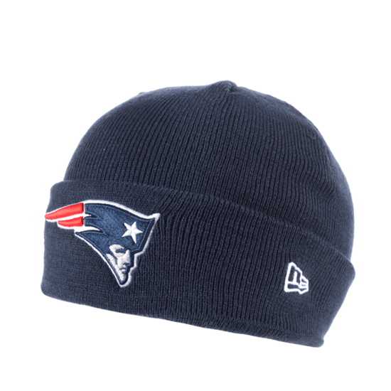 New Era New England Patriots Beanie Team Cuff Knit Kids blau