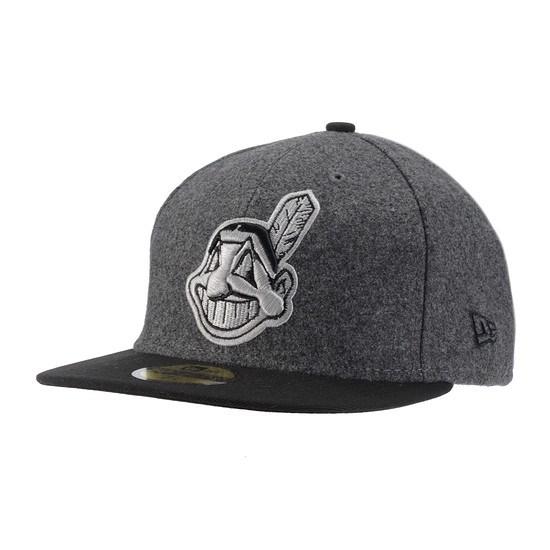 New Era Cleveland Indians Cap Melton Basic schwarz/grau