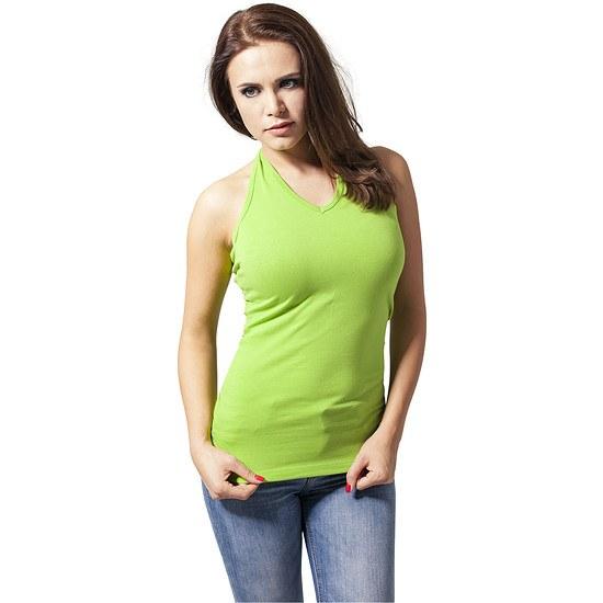 URBAN CLASSICS Shirt Neckholder Damen Lime